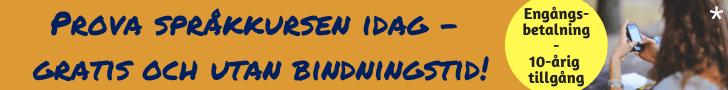 Engångsbetalning på 29,95 euro för att få 10-årig tillgång till den amerikanska språkkursen!